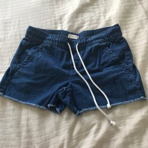 LOFT cotton linen drawstring shorts